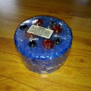 Candle blueberry cake